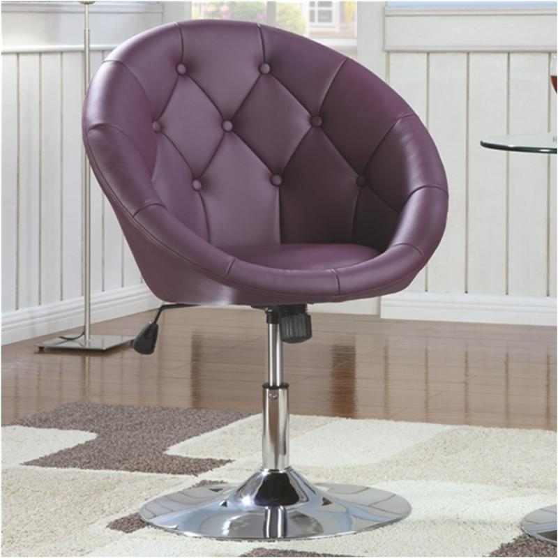 purple swivel chair wireless gaming 102581 coaster furniture accent