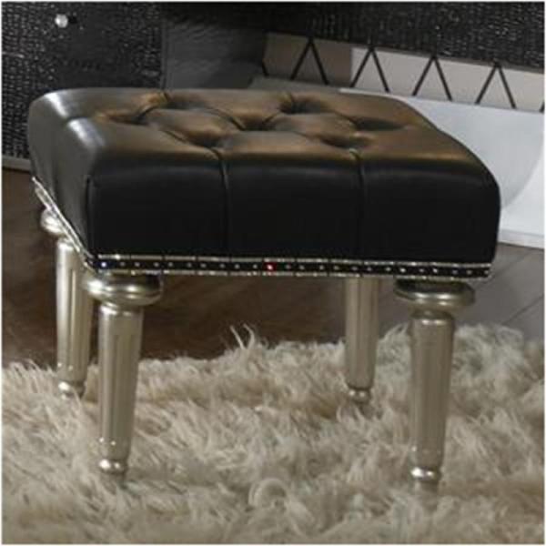 03804-05-sn Aico Furniture Vanity Bench-platinum