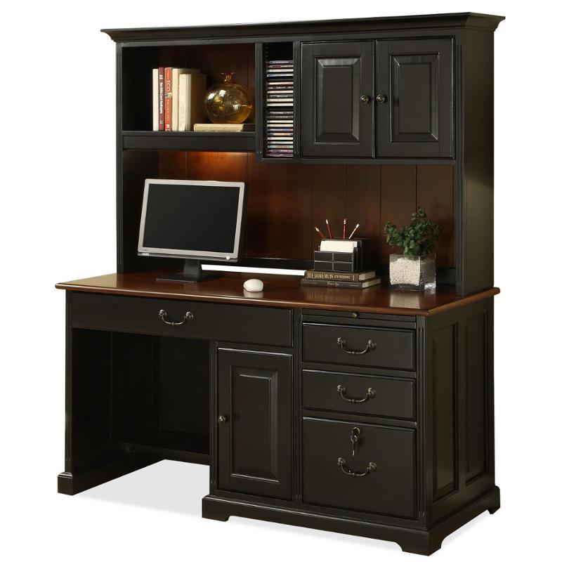 7159 Riverside Furniture Bridgeport 58 Inch Storage Hutch