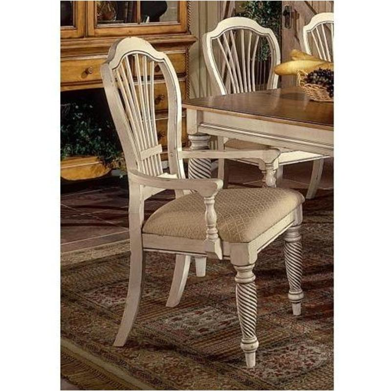 antique white dining chairs with casters swivel 4508 805 hillsdale furniture wilshire room chair