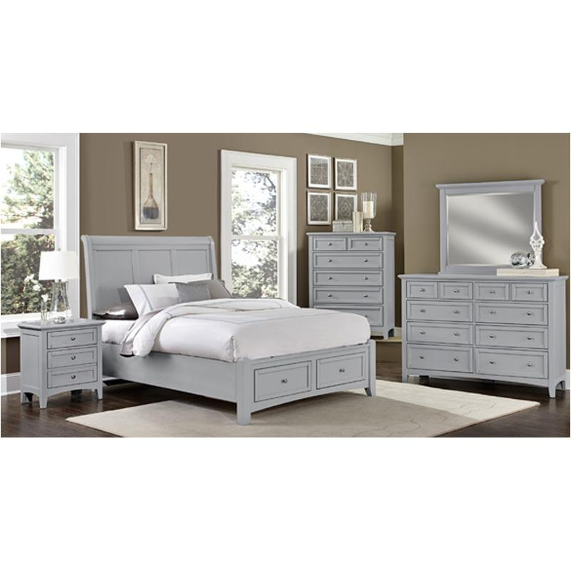 Bb26002 Vaughan Bassett Furniture Triple Dresser  Grey