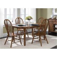 18-t566 Liberty Furniture Old World Dining Room Oval Leg Table