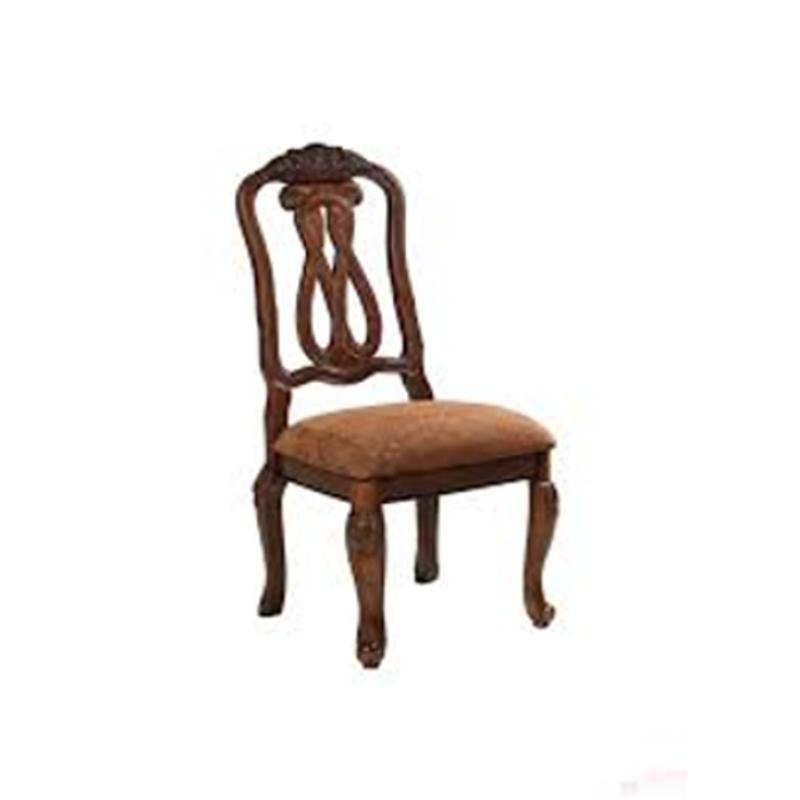 dark brown wooden dining chairs better homes and gardens chair cushions d553 03 ashley furniture wood back side north shore room