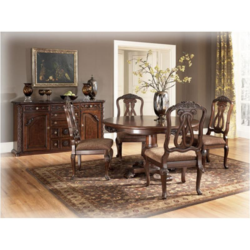 ashley furniture dining room chairs brown desk chair d553 50t round pedestal table north shore dark