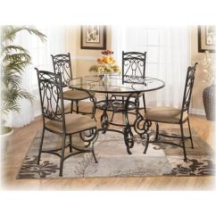 Ashley Dining Room Chairs Holiday Chair Covers D312 225 Furniture Bianca Round Glass Table Dinette