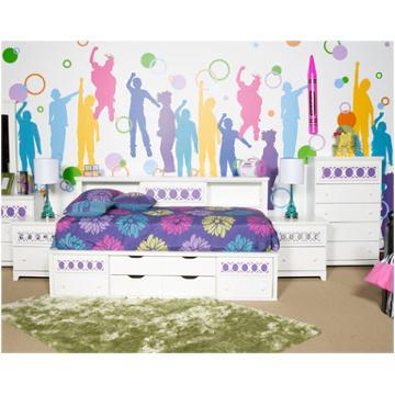B131 85 Ashley Furniture Twin Bedside Bookcase Storage Bed