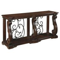 T869-4 Ashley Furniture Alymere - Rustic Brown Sofa Table