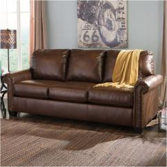 Ashley Furniture Durablend Sleeper Sofa Concrete And Metal Table 3800039 Queen Lottie Chocolate Living Room