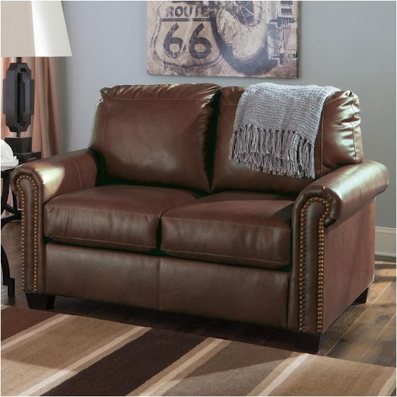 ashley furniture durablend sleeper sofa leather melbourne gumtree 3800037 twin lottie chocolate living room chair