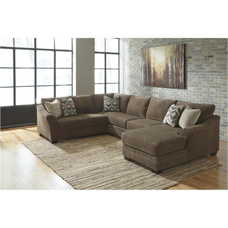 teak living room furniture traditional accent chairs 8910266 ashley justyna laf sofa sectional