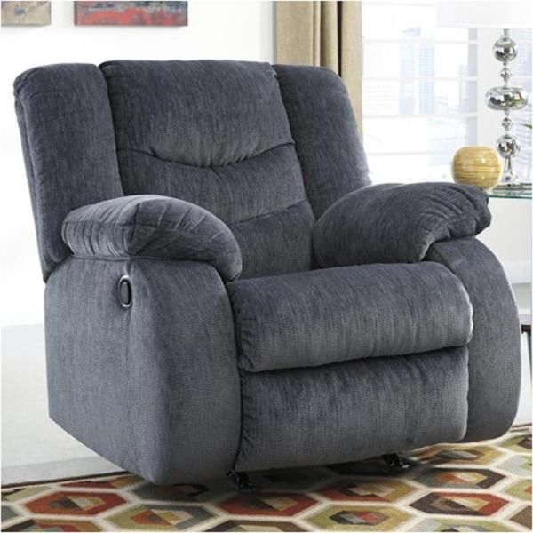9200125 Ashley Furniture Garek - Blue Living Room Rocker