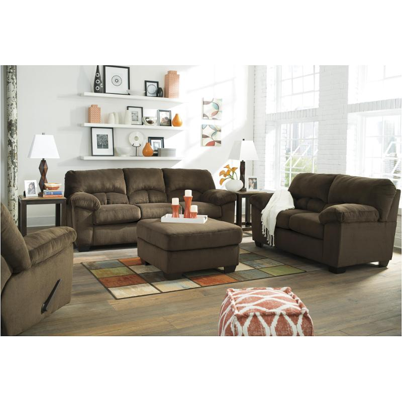 ashley living room shades 9540338 furniture dailey chocolate sofa