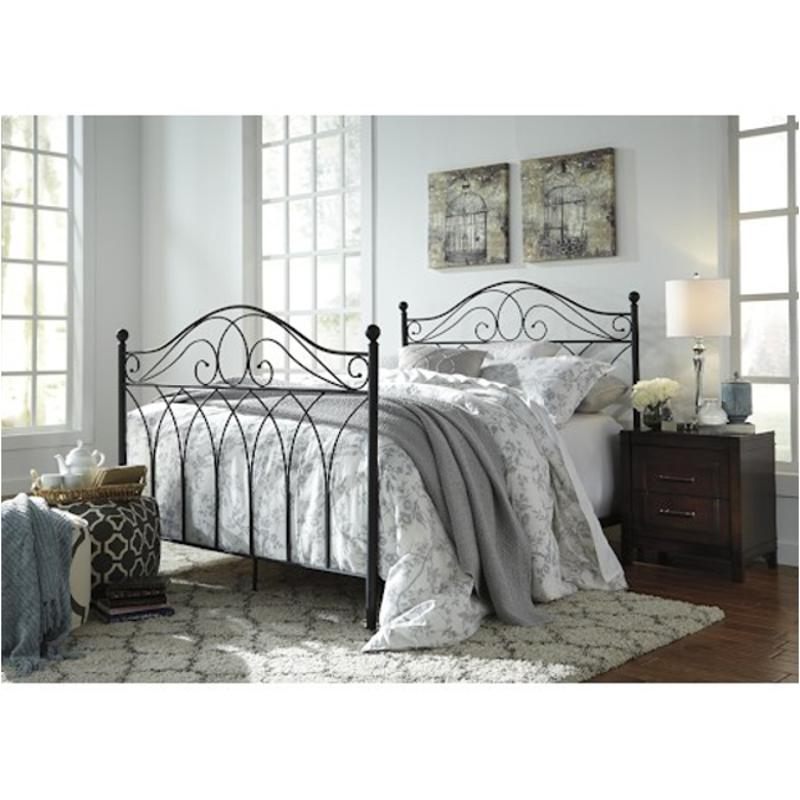 B280 481 Ashley Furniture Queen Metal Headboardfootboard