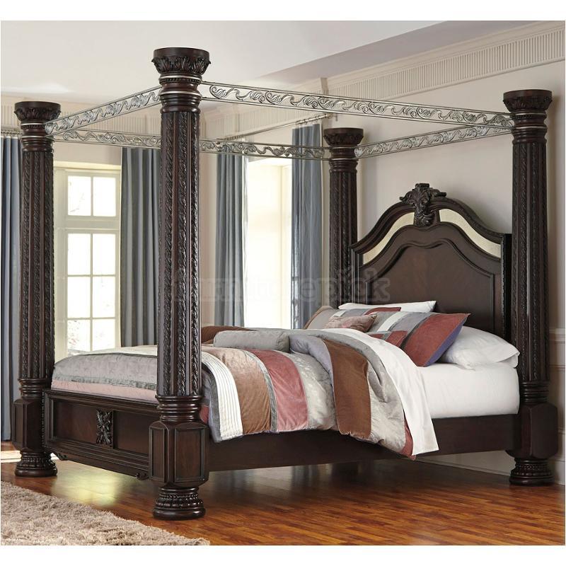 B71772ck Ashley Furniture Laddenfield  Dark Brown Bed