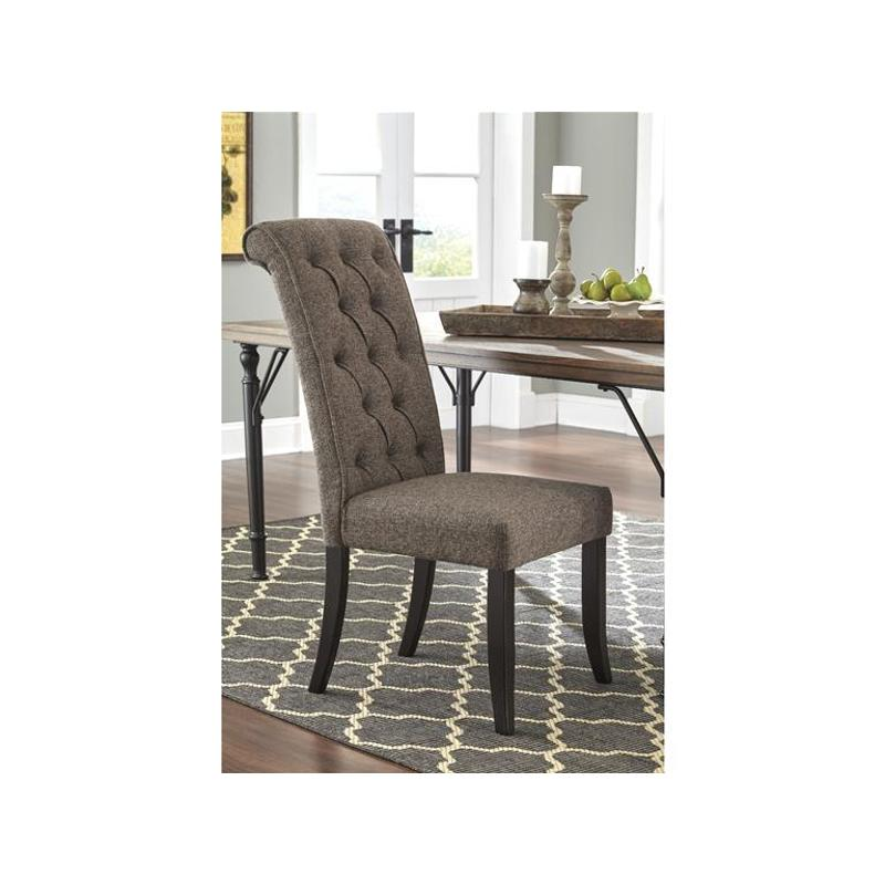 ashley furniture dining room chairs unique office d530 02 upholstered side chair tripton medium brown