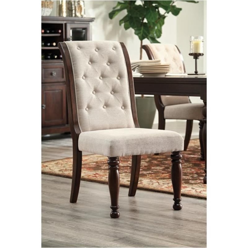 ashley furniture dining room chairs used pedicure d697 04 upholstered side chair porter rustic brown