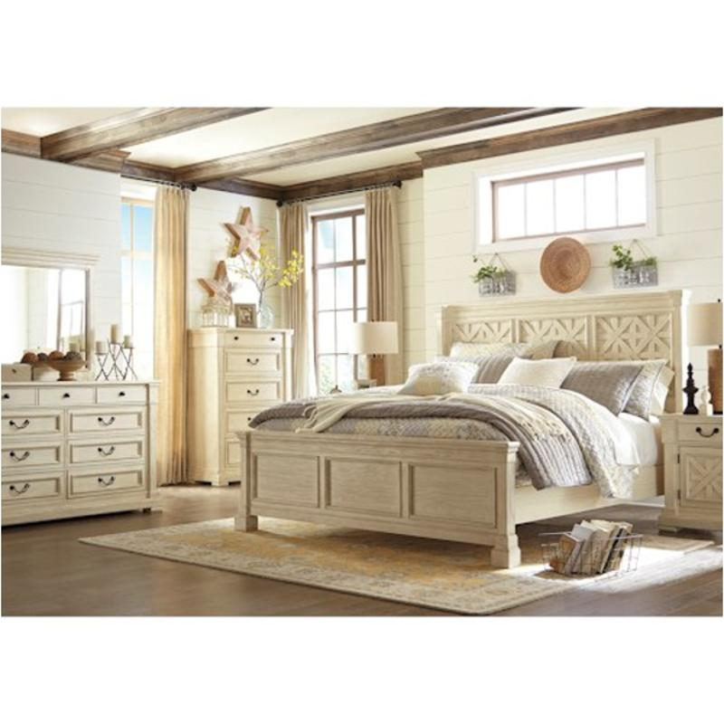 B64757 Ashley Furniture Bolanburg Bedroom Queen Panel Bed