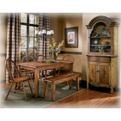 Ashley Dining Room Chairs Blue Leather Office Chair D199 25 Furniture Rectangular Table Berringer Rustic Brown Dinette