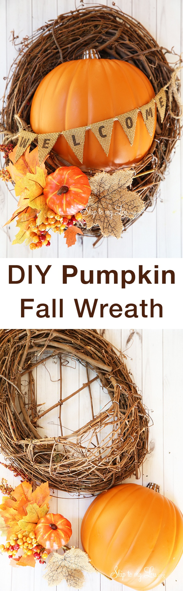 DIY Pumpkin Fall Wreath