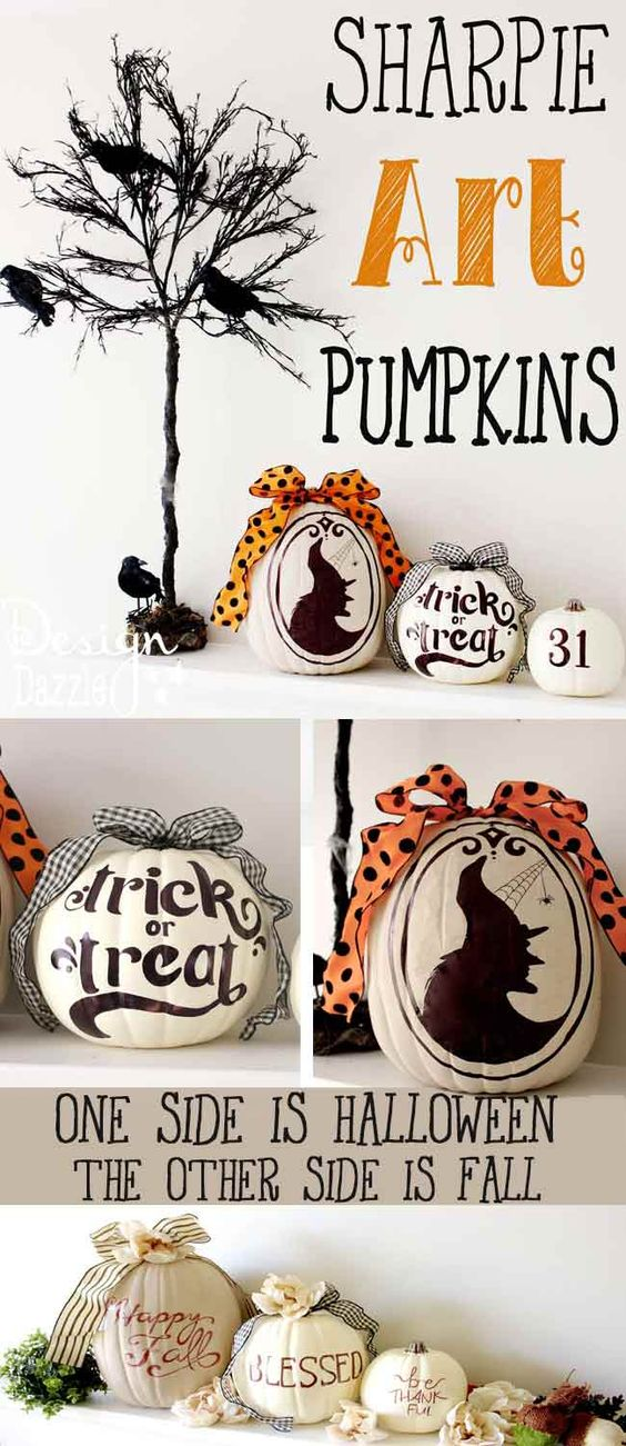Sharpie Art Pumpkins