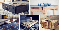 15 Creative DIY Coffee Table Ideas You Can Build Yourself ...