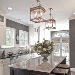 Grey Kitchen Island Modern Pendant Lighting 50 Inspiring Ideas Designs Pictures Homelovr And Quartz Countertop