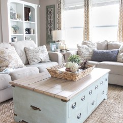 Small Living Room Decorating Ideas 2017 Contemporary Rooms 27 Rustic Farmhouse Decor For Your Home Homelovr 21 Light Blue Coffee Table With Internal Storage