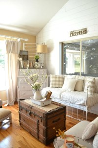 27 Rustic Farmhouse Living Room Decor Ideas for Your Home ...