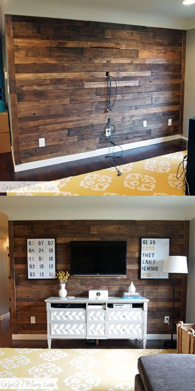 wood wall living room grey and silver curtains 15 beautiful accent ideas to upgrade your space homelovr diy wooden pallet