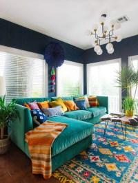Colorful Sofas Colorful Velvet Sofa Adorable Home - TheSofa