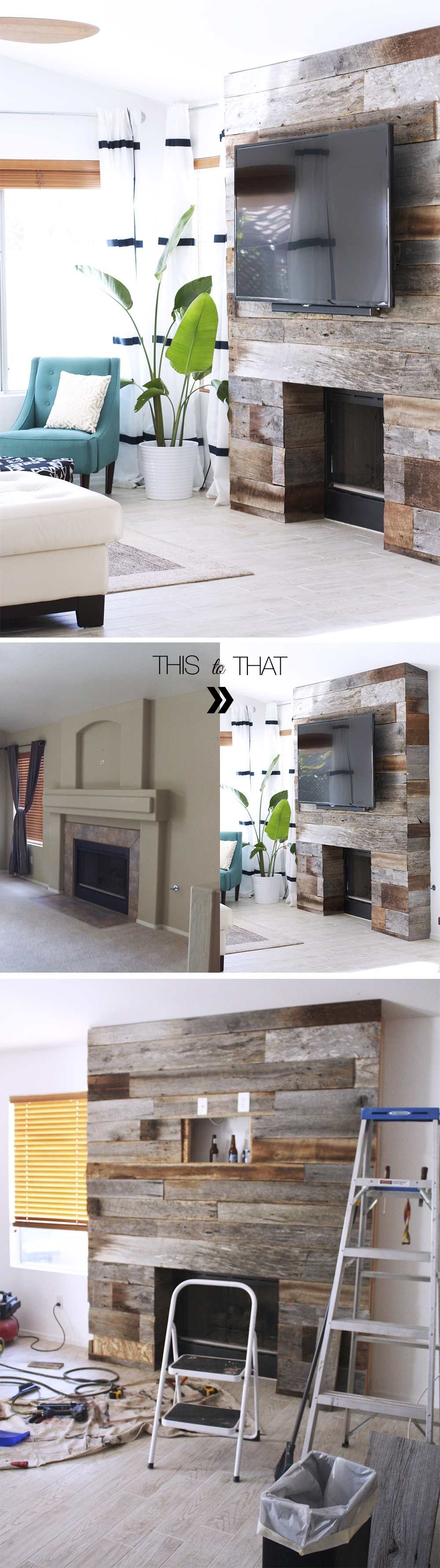 wood wall living room movie theater themed 15 beautiful accent ideas to upgrade your space homelovr reclaimed fireplace
