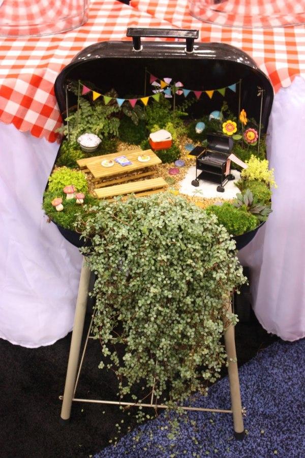 Barbecue Themed Fairy Garden