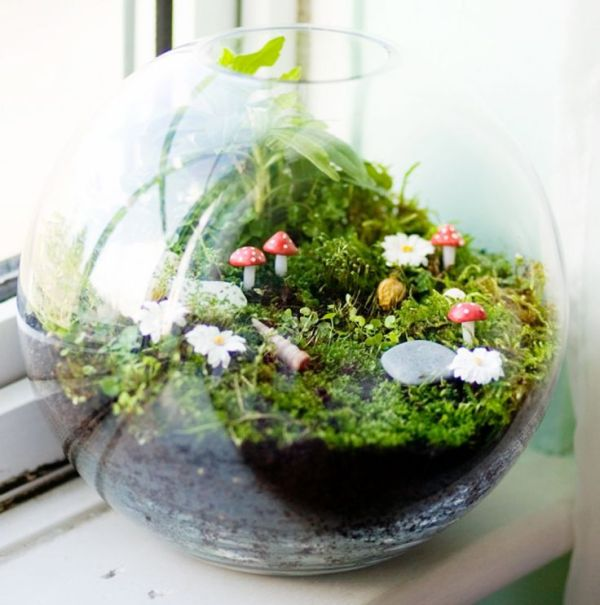 Fairy Garden in a Terrarium