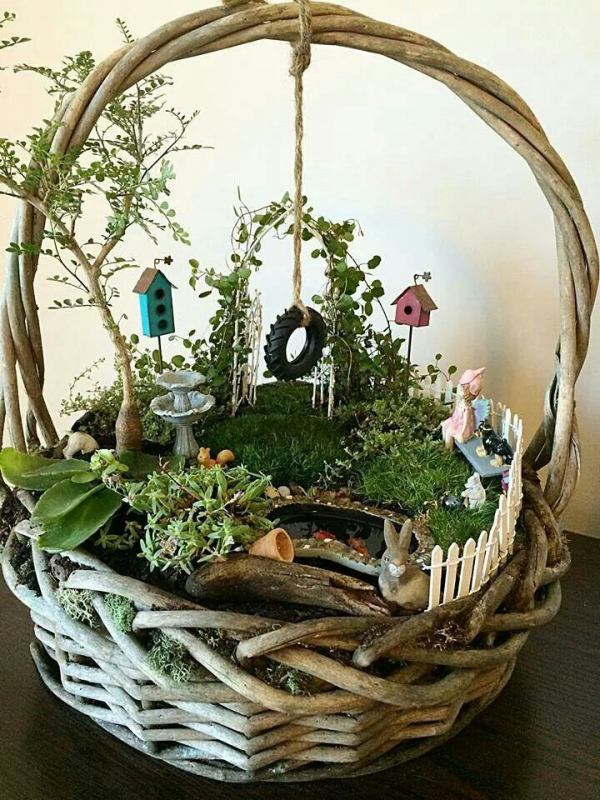 Fairy World in a Basket