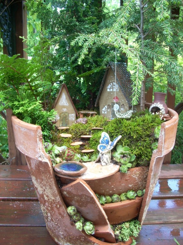 Terra Cotta Pot Fairy Garden