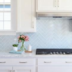 White Kitchen Backsplash Electrics 20 Ideas That Totally Steal The Show Homelovr Blue Herringbone