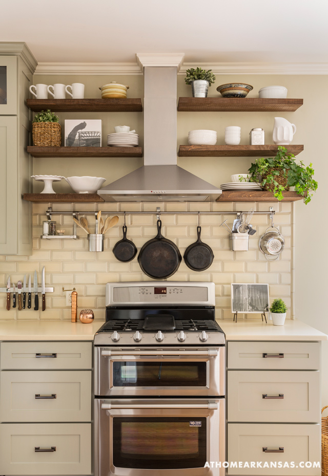 wood shelves kitchen aprons 19 gorgeous open shelving that will inspire you homelovr hood