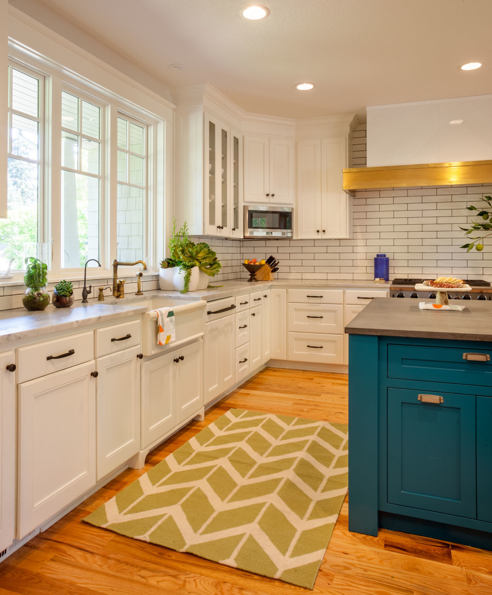 colorful kitchen cabinets wayfair chairs 20 gorgeous cabinet color ideas for every type of white and blue island