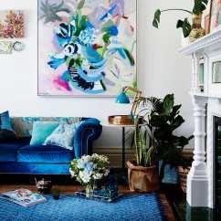 Blue Velvet Sofa Living Room Ideas La Z Boy Sectional Sleeper Gorgeous For Your