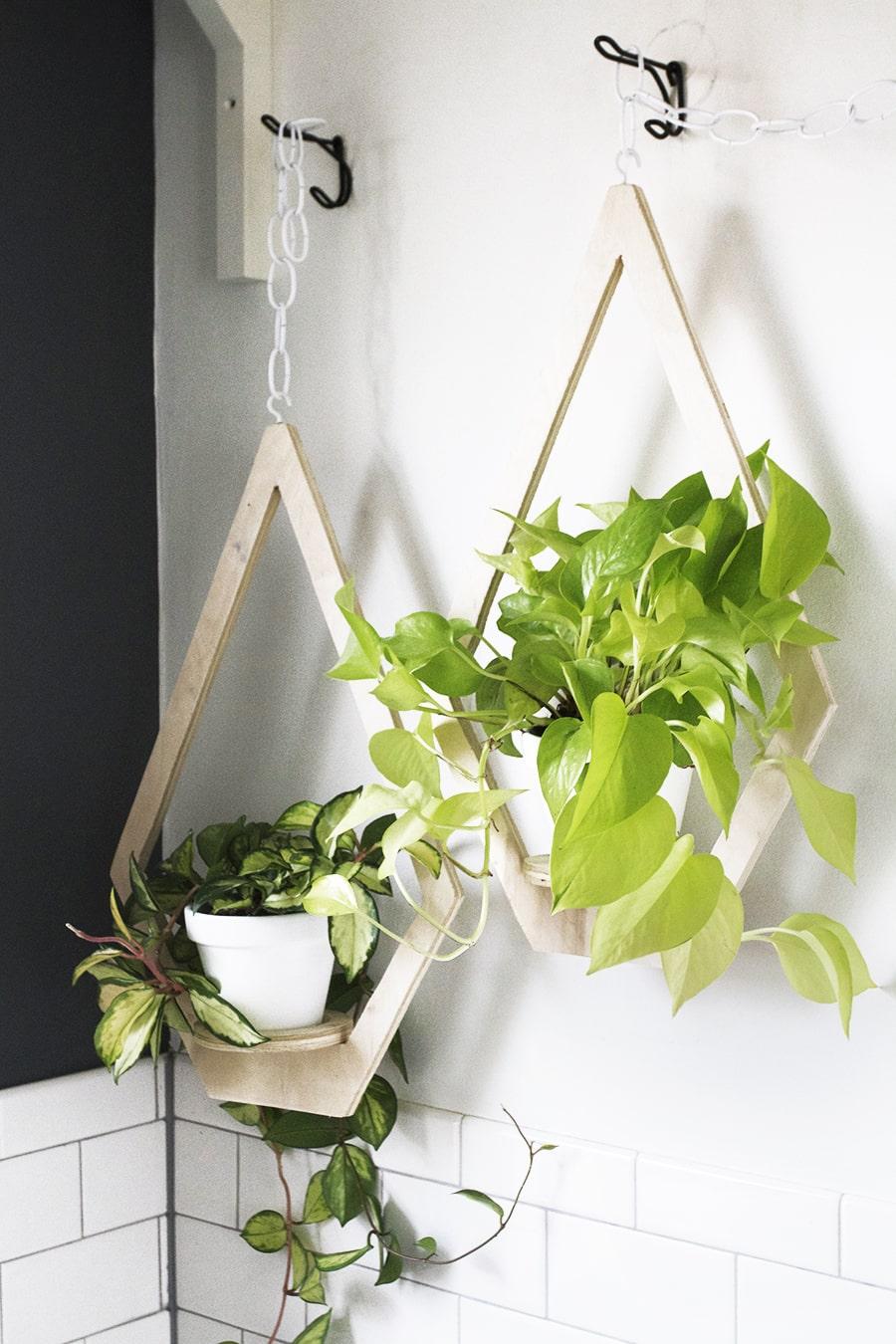 DIY Plywood Hanging Planter