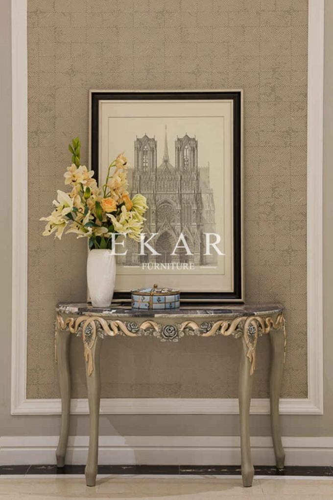 Wooden Cabinet Wall Console Table Acrylic Round Entrance