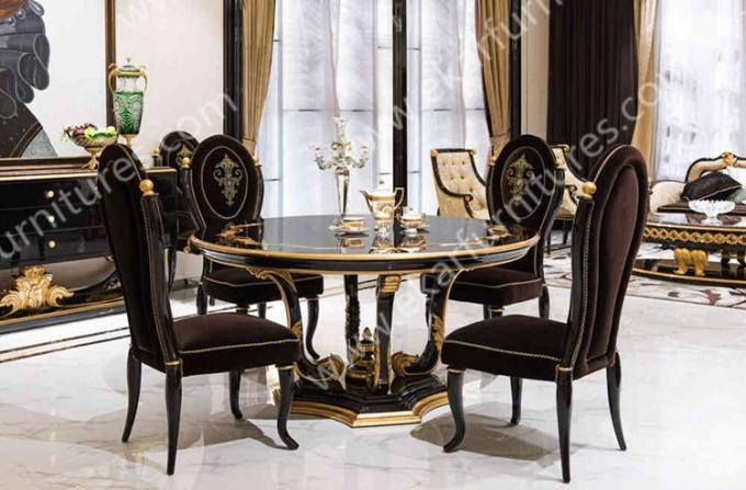Alibaba wholesale Chinese Antique Luxury Round Wooden Dining Table TN005