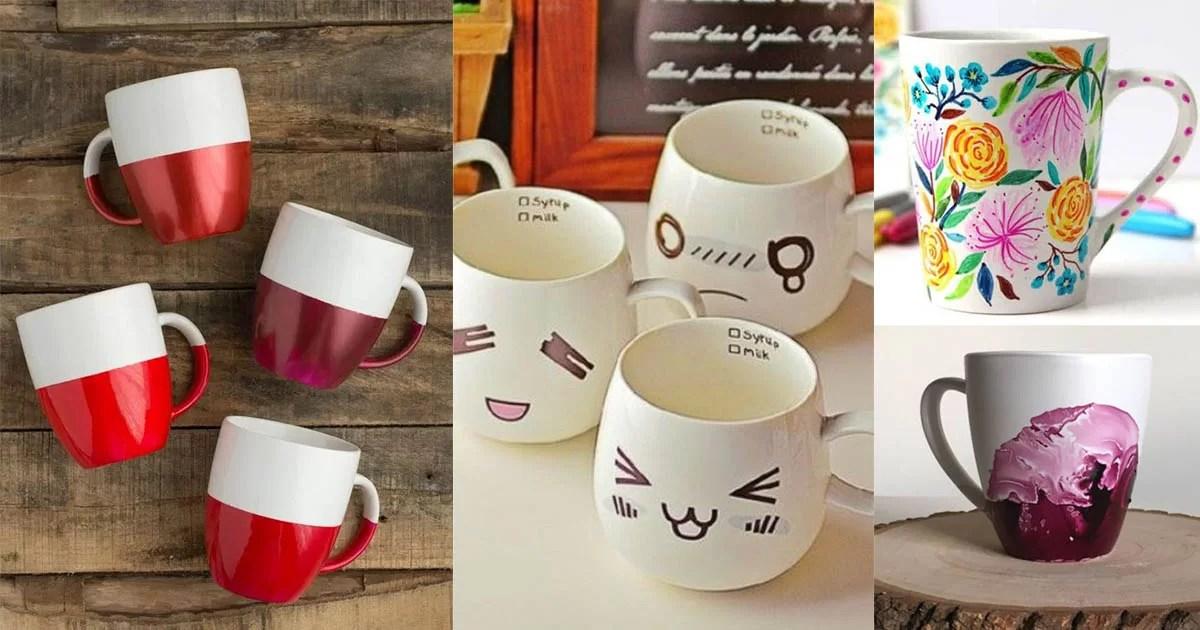 13 DIY Coffee Mug Inspiration