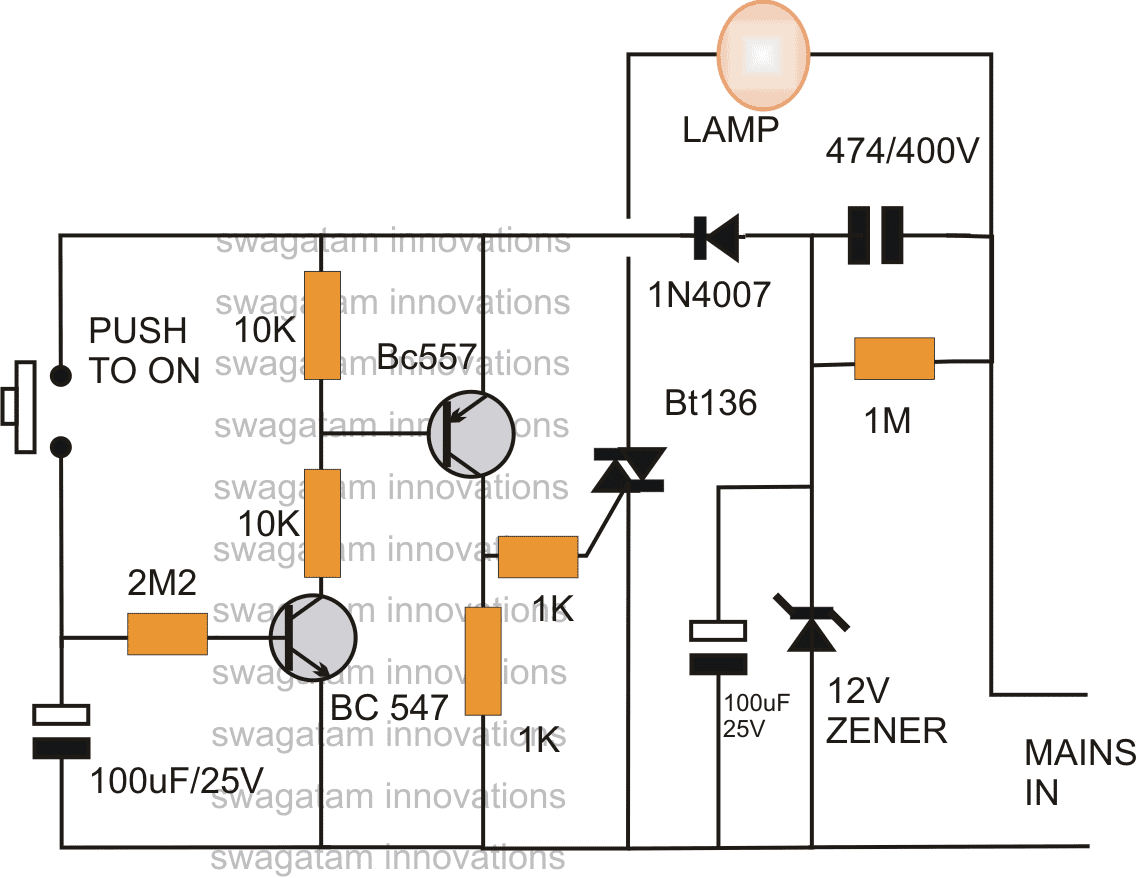 Simple Bedroom Lamp Timer Circuit Using Ic 741