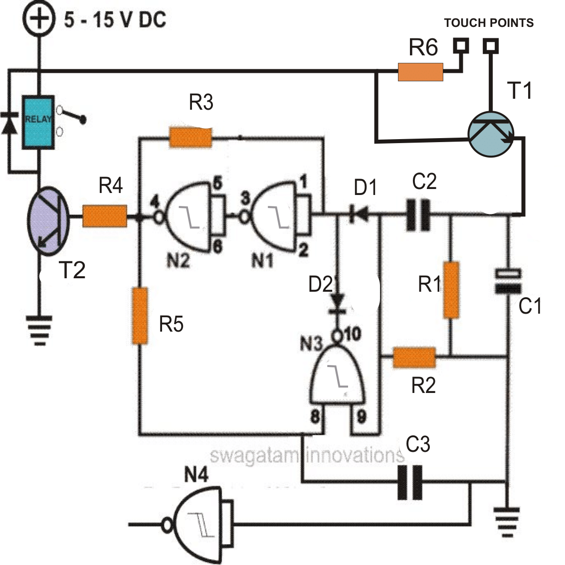 How To Make A Simple Touch Sensitive Switch Circuit