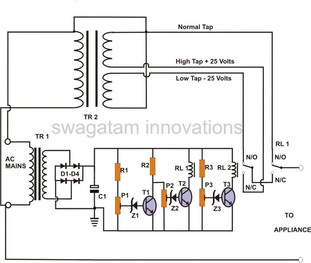 V Generator Wiring Diagrams How To Build A 2 Stage Mains Power Stabilizer Circuit