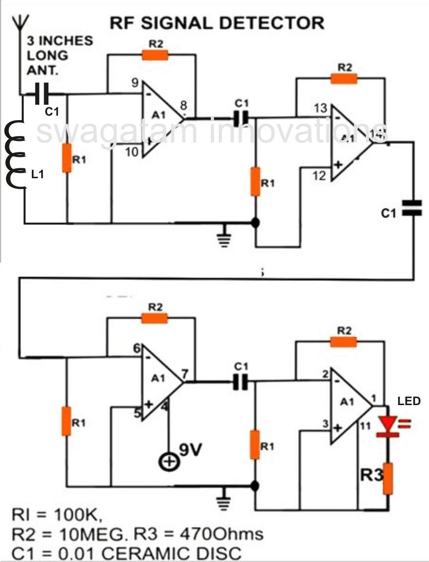 Cell Phone RF Signal Detector Circuit