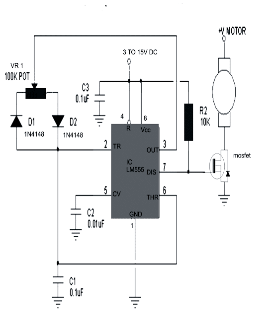 stepper motor controller circuit schematic