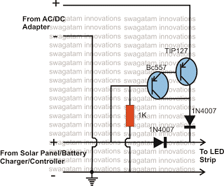 Solar Battery Charger, AC/DC Adapter Changeover Relay