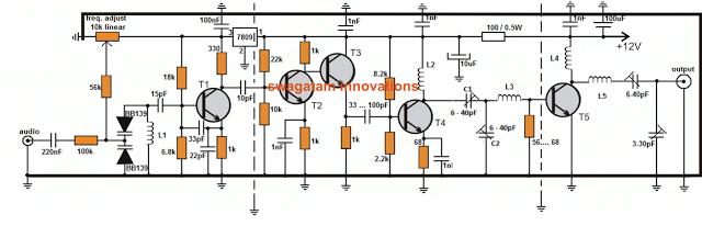 Antenna Power Injector Schematic Long Range Transmitter 2 To 5 Km Range Homemade